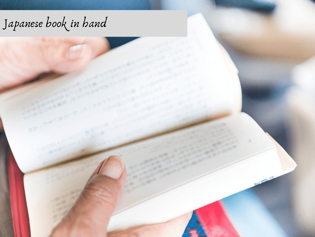 japanese book in hand