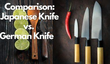 Comparison Japanese Knife vs. German Knife