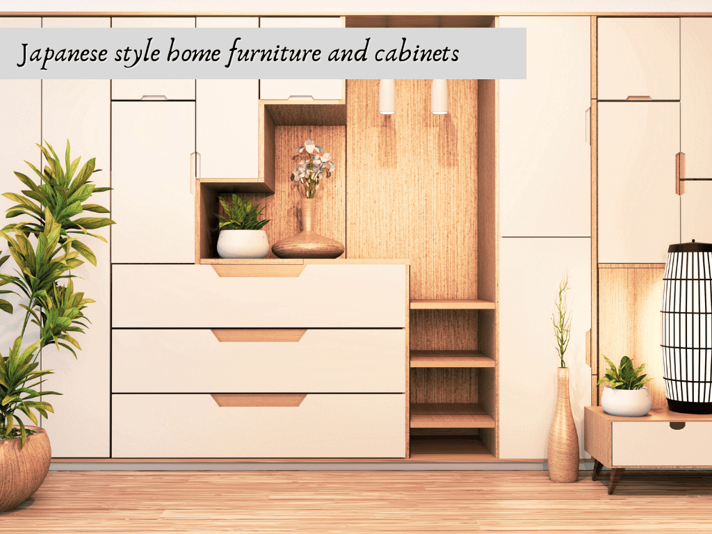 Japanese style home furniture and cabinets