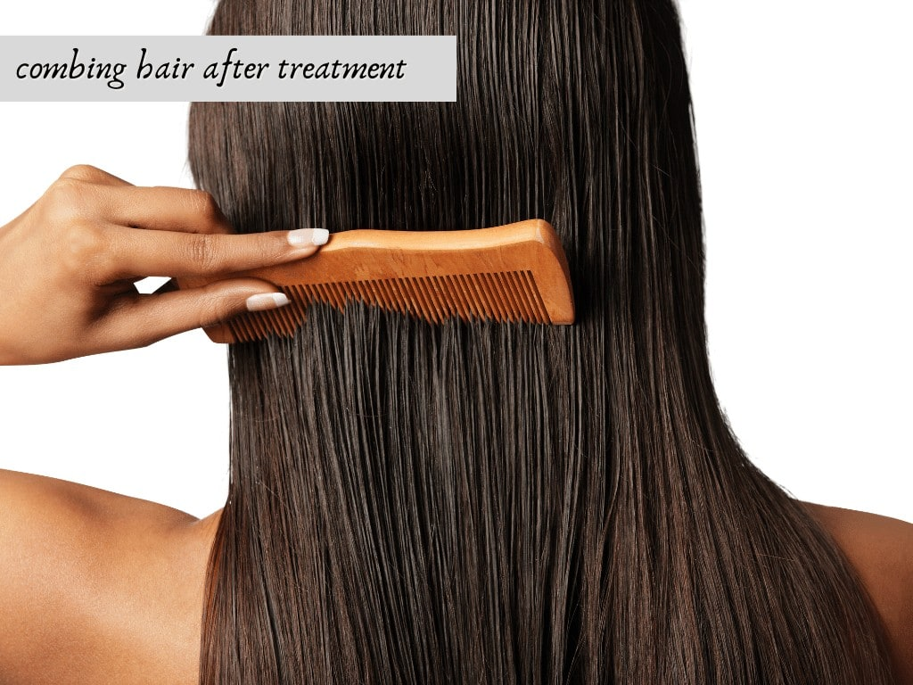 combing hair after treatment